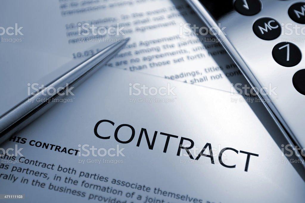 contract series stock photo