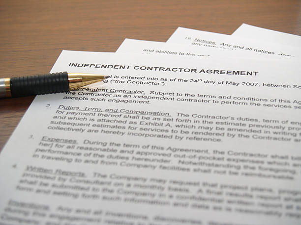 contracting papers - independence stock photos and pictures