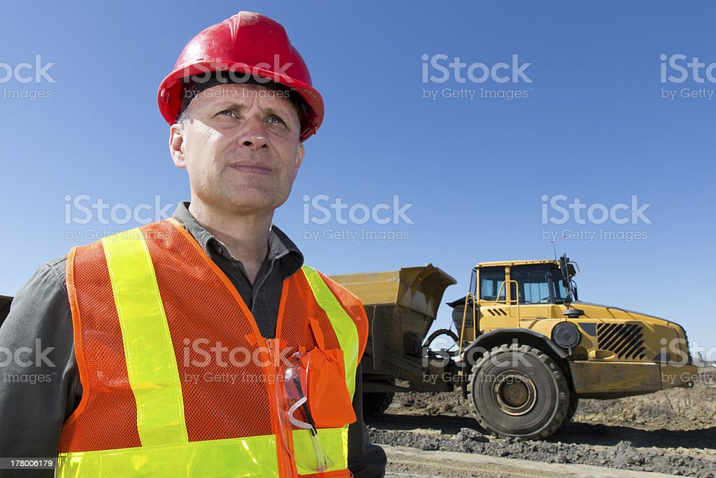 Contractor and Heavy Equipment royalty-free stock photo