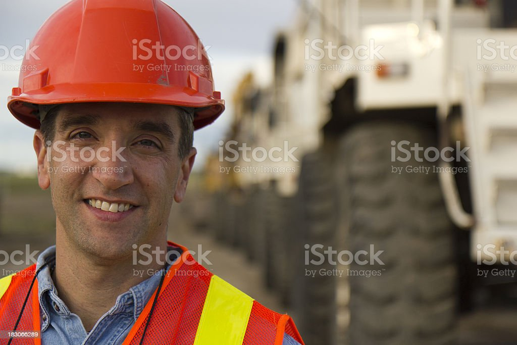 Contractor at a Worksite royalty-free stock photo