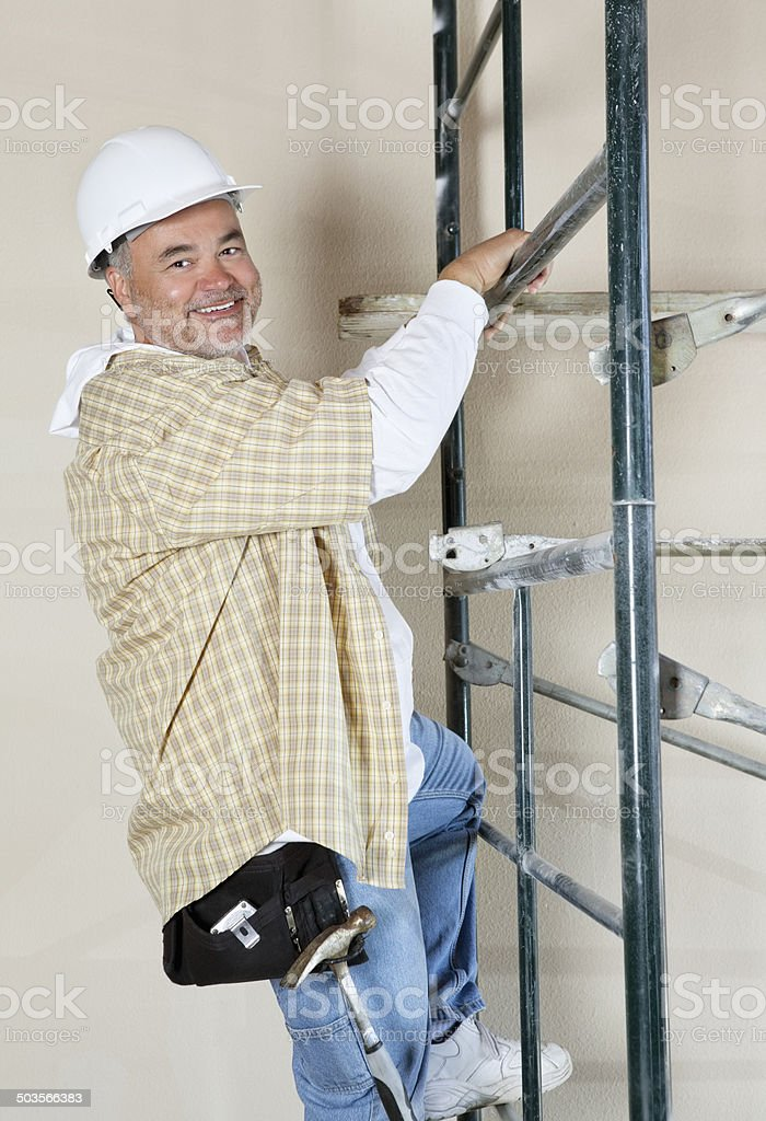 Contractor at work royalty-free stock photo
