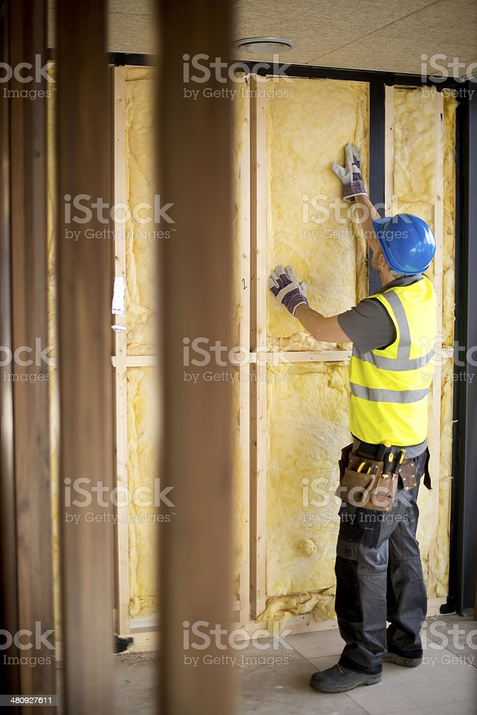 contractor insulation stock photo