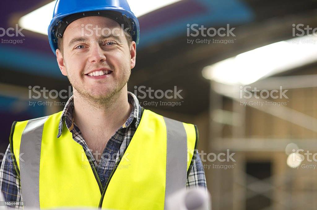 contractor on site royalty-free stock photo