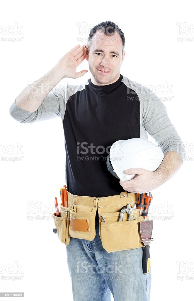 Contractor on white royalty-free stock photo