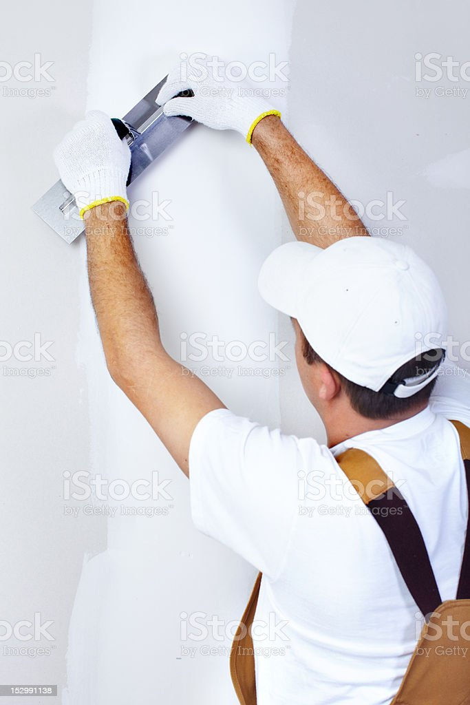 Contractor Plasterer royalty-free stock photo
