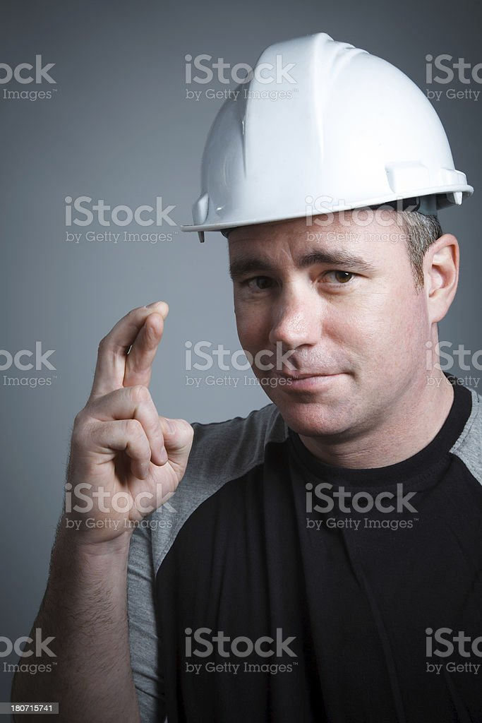 Contractor portrait royalty-free stock photo