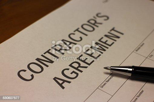 532257236istockphoto Contractor's Agreement Contract 530607577