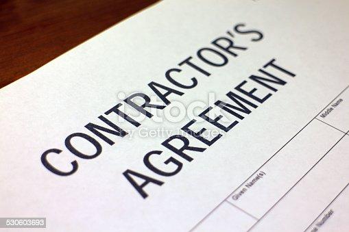 532257236istockphoto Contractor's Agreement Form 530603693
