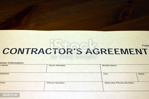 532257236istockphoto Contractor's Agreement Form 530625481