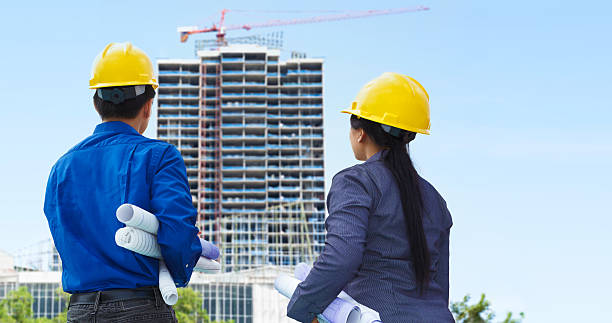 contractors and building projects - civil engineer stock photos and pictures
