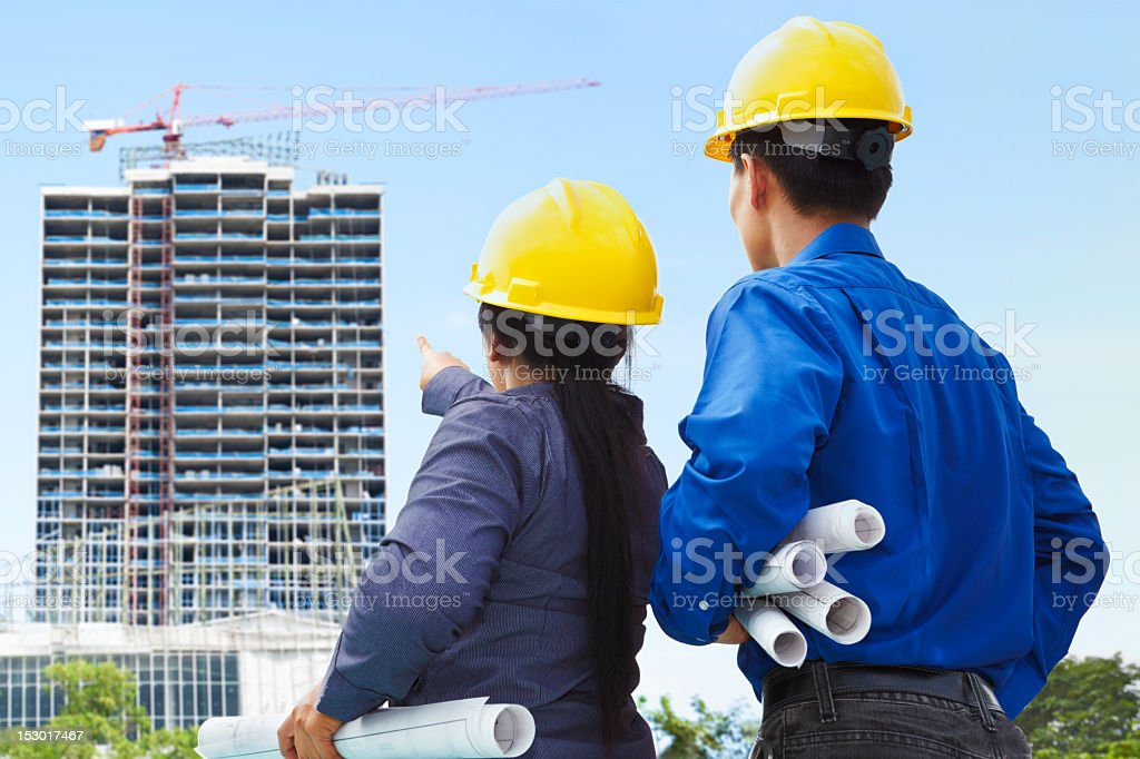 Contractors and building projects royalty-free stock photo