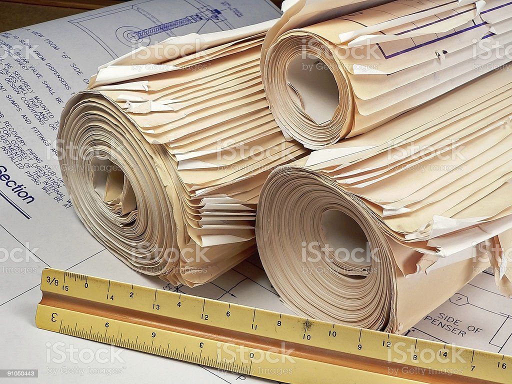 Contractor's Office royalty-free stock photo
