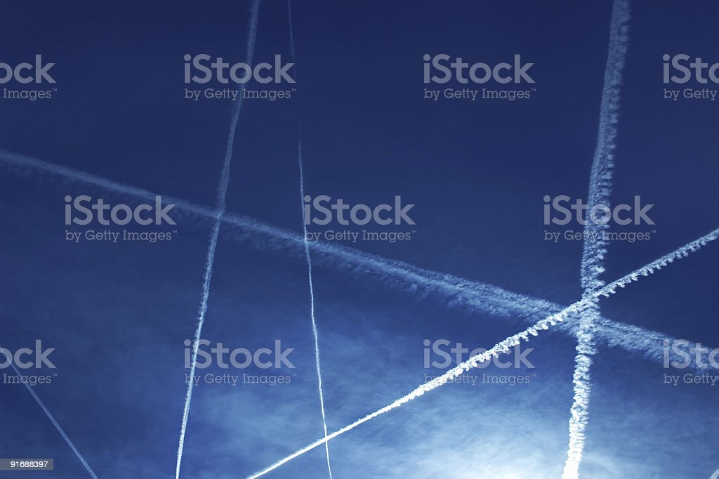 Contrail stock photo