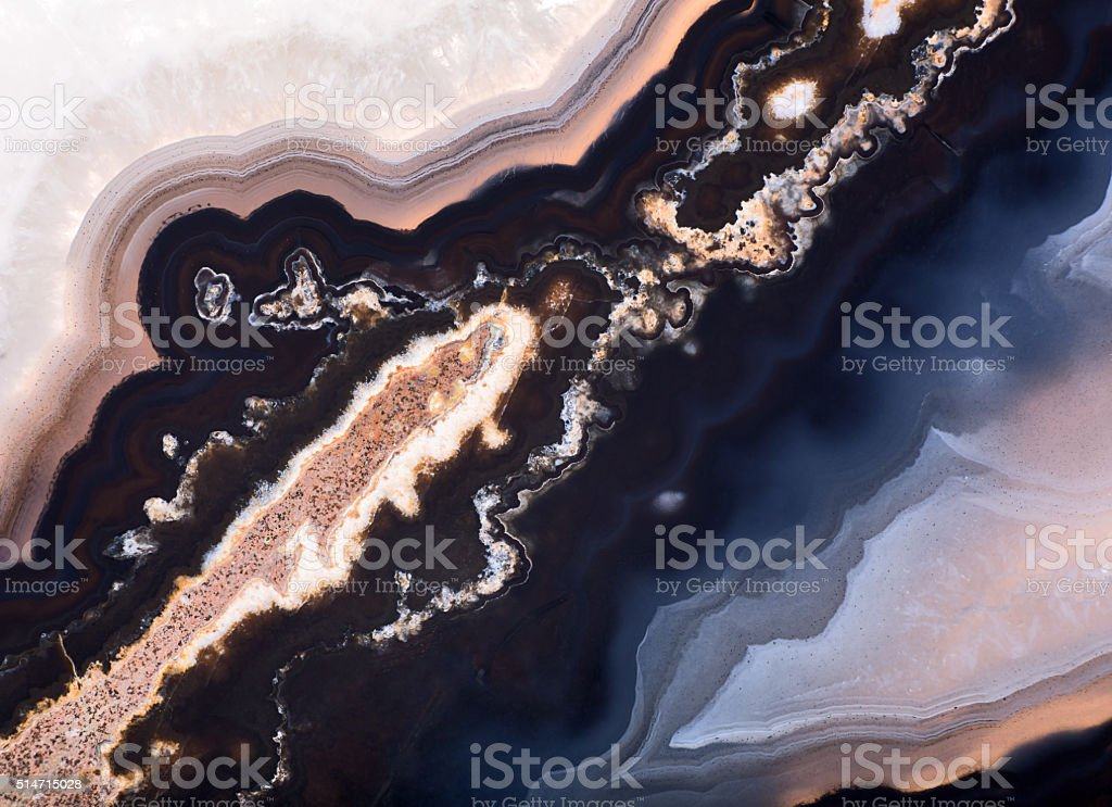 contrast agate structure macro stock photo