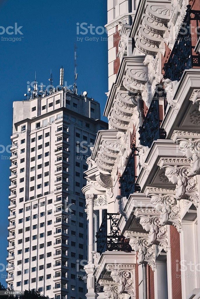 Contrast architectural urban royalty-free stock photo