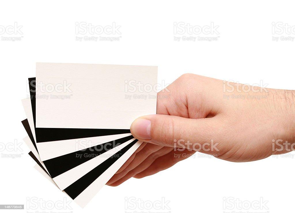 Kontrastierende Visitenkarte in der hand – Foto