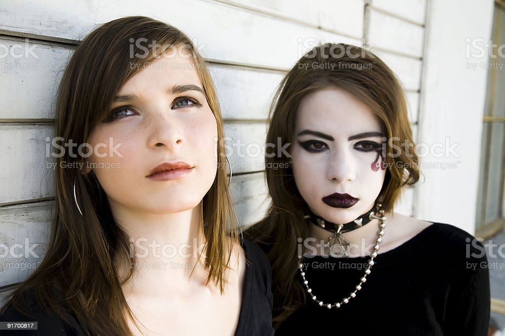 Contrast Girls stock photo