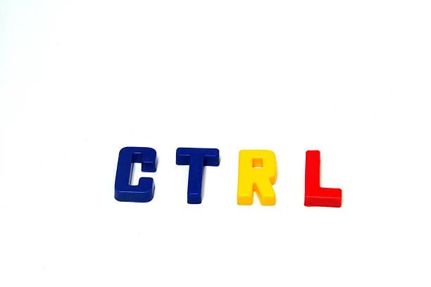 'Control' clave de letras - foto de stock