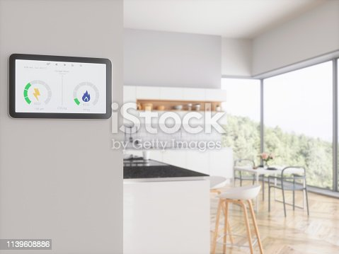 Control of energy bills. Home energy smart meter.