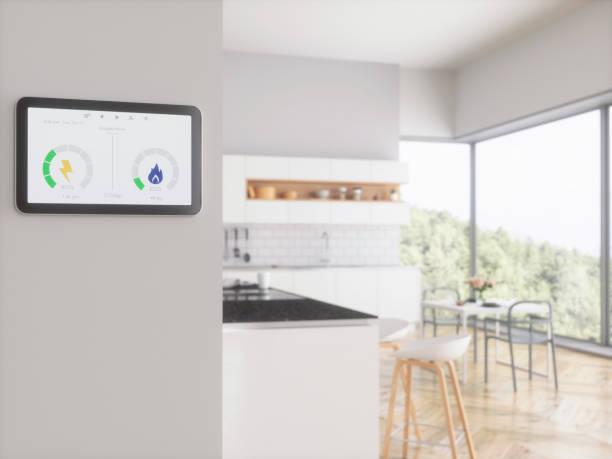 Kontrolle der Energierechnungen-Smart Meter für die Heimenergie – Foto