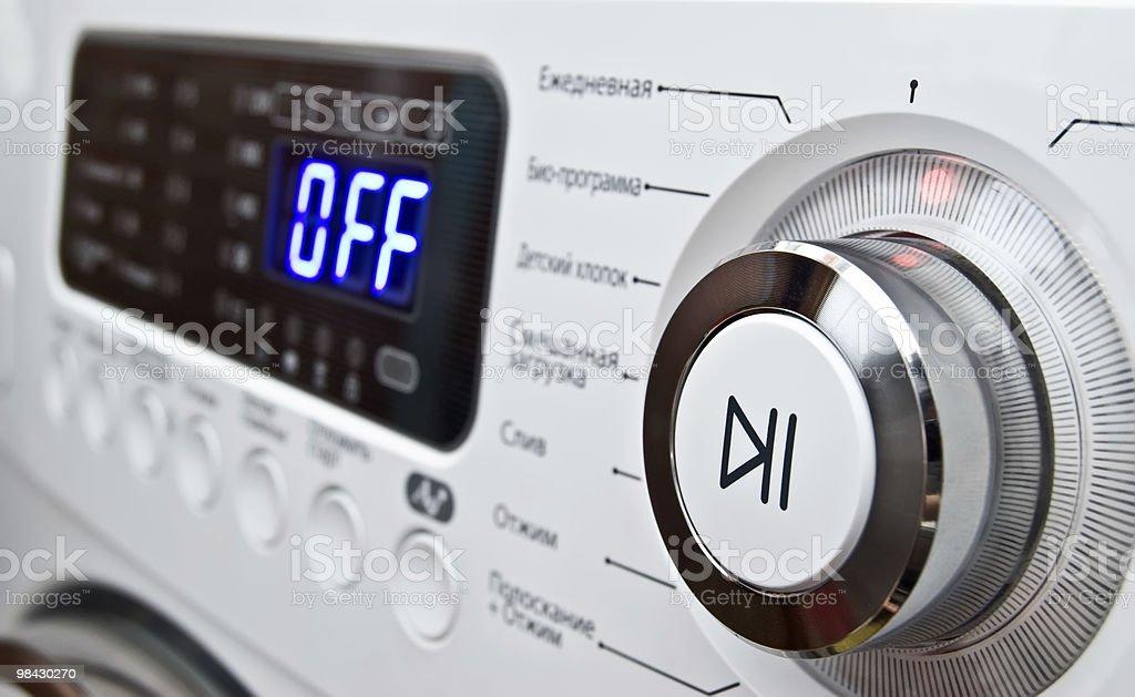 control of washing maashiny panel royalty-free stock photo