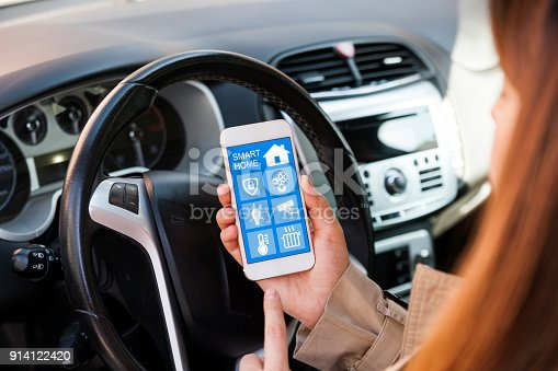 istock Control over household appliances with home automation app 914122420