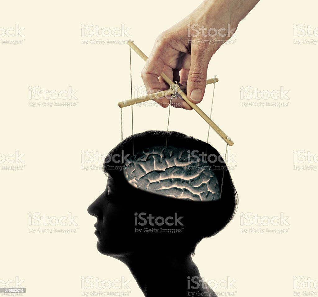 control over the brain stock photo