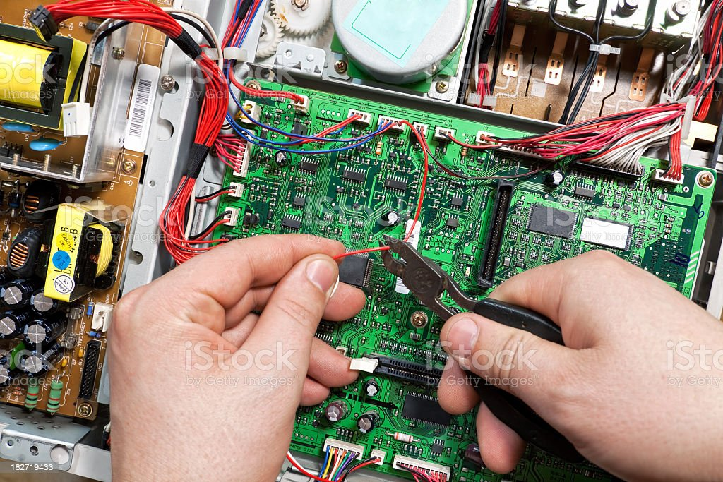 Control Panel and Electrical cable royalty-free stock photo
