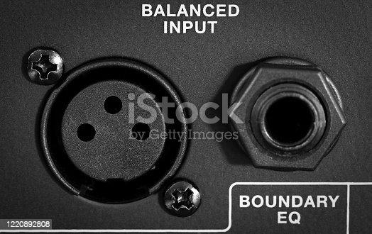 istock Control panel audio device 1220892808