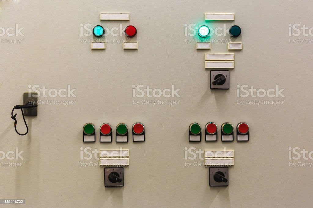 Control Panel Of The Cooling System In Server Room With