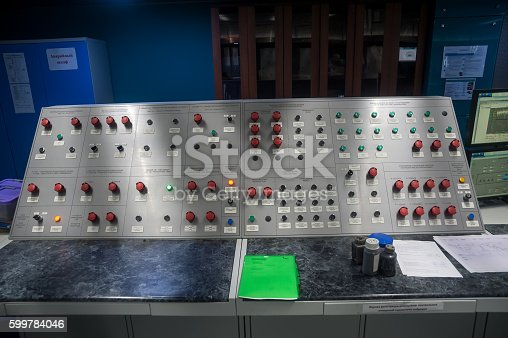 istock Control panel on petrochemical plant 599784046