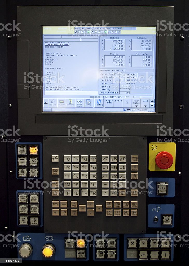 CNC control panel royalty-free stock photo