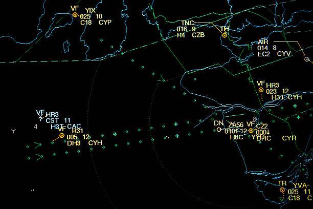 il controllo del traffico aereo radar - radar foto e immagini stock