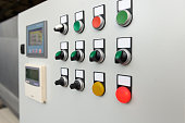 istock Control panel with push buttons 1299585342