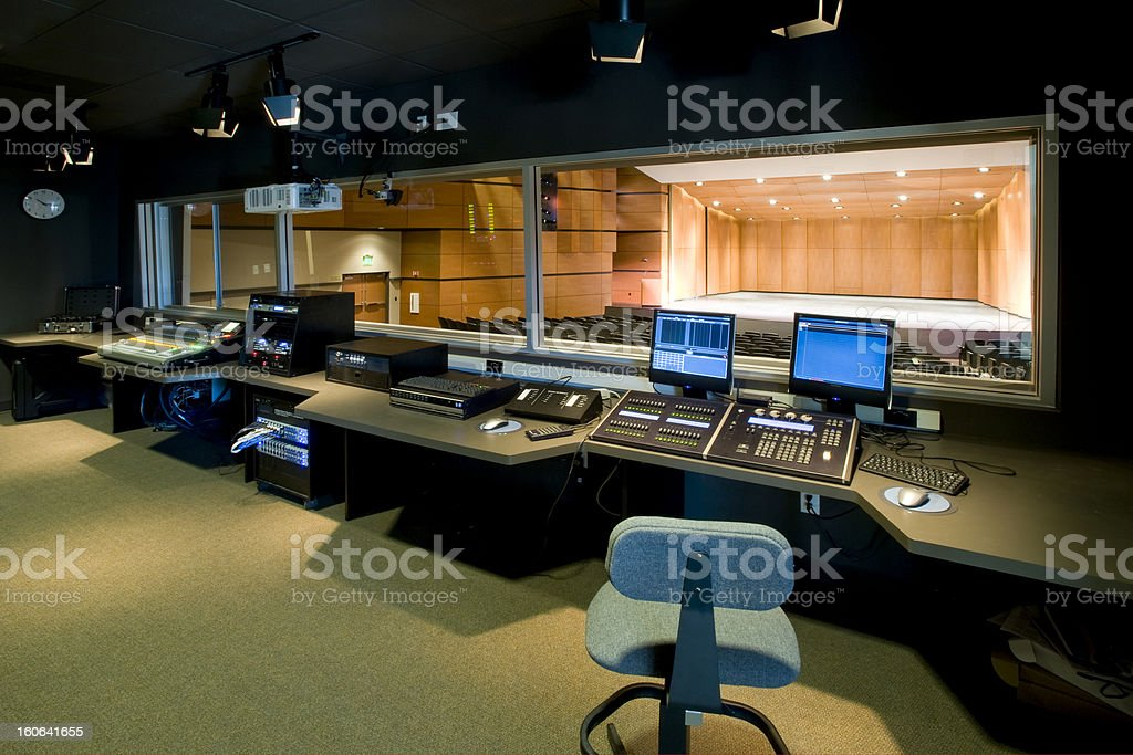 Control Room and Theater stock photo