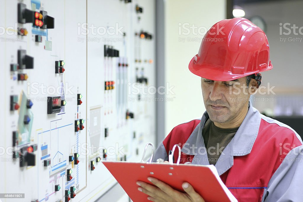 Control Room Engineer royalty-free stock photo