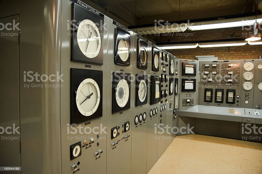 Control room nuclear power plant royalty-free stock photo