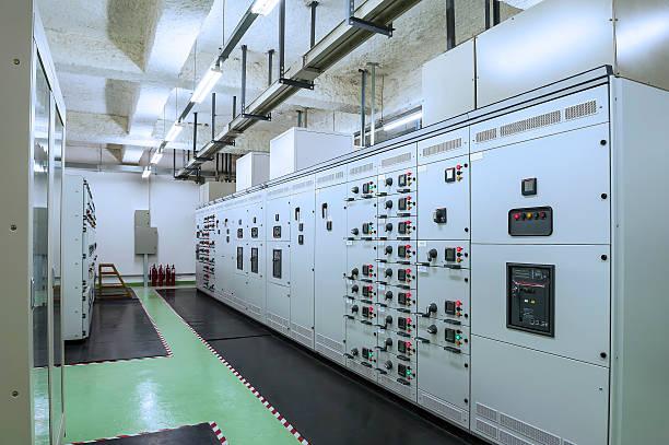 Kontrollraum einem power plant – Foto
