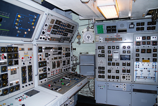 control room of an inside a submarine