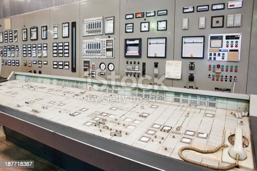 Control room of an old power plant