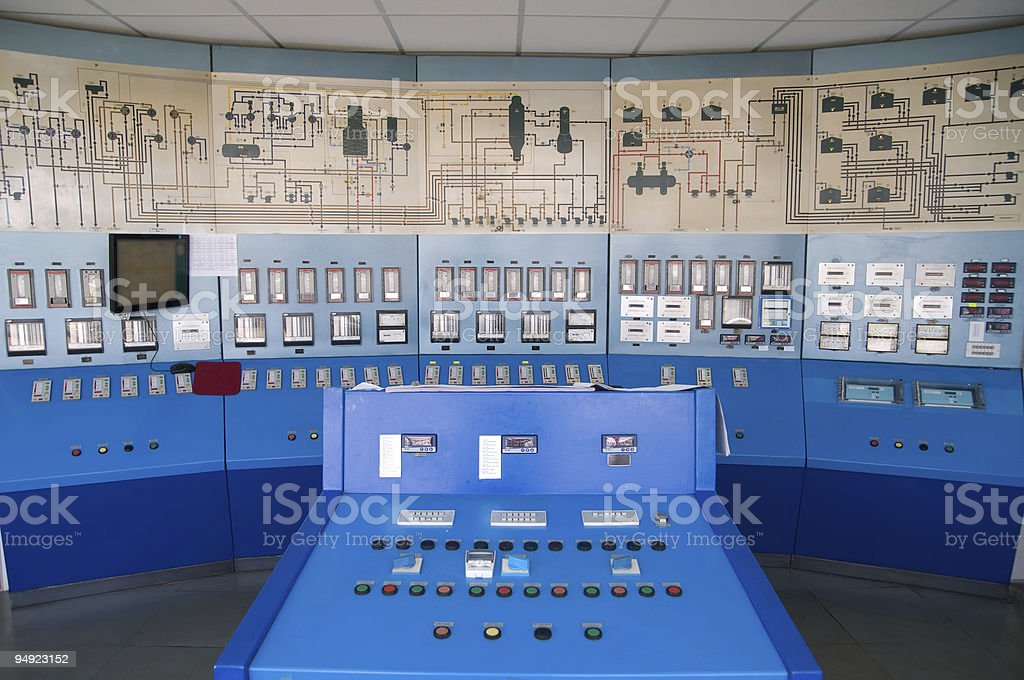 Control room royalty-free stock photo