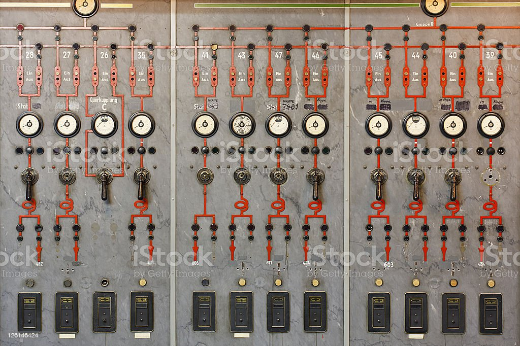 Control Room Wall royalty-free stock photo
