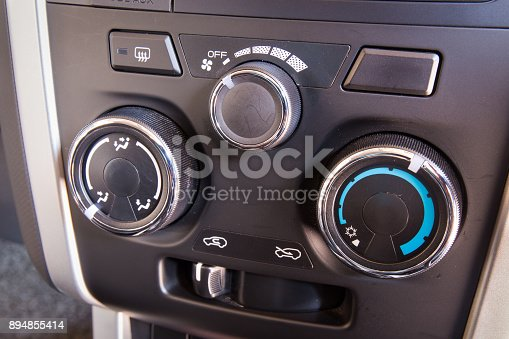 istock Control switch air conditioning in a car. 894855414