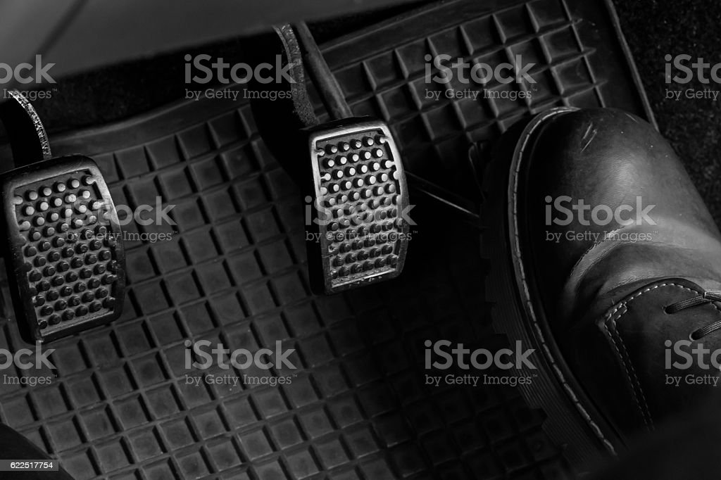 Control the car. stock photo
