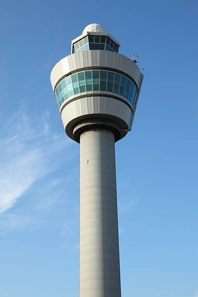 Control tower at International Airport Schiphol in Amsterdam, Holland The Control tower at International Airport Schiphol in Amsterdam, Holland. pejft stock pictures, royalty-free photos & images
