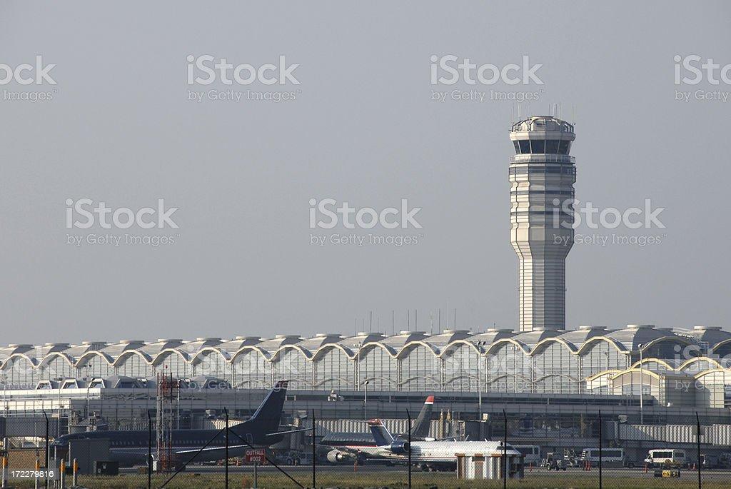 Control Tower at Reagan National Airport stock photo