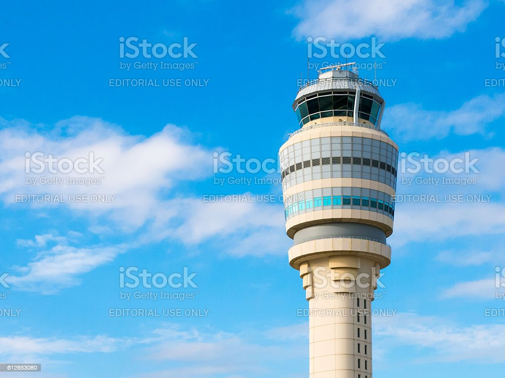 Control tower of Hartsfield Jackson airport, Atlanta, Georgia, U stock photo