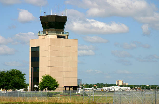 FAA Control Tower; Orlando Executive stock photo