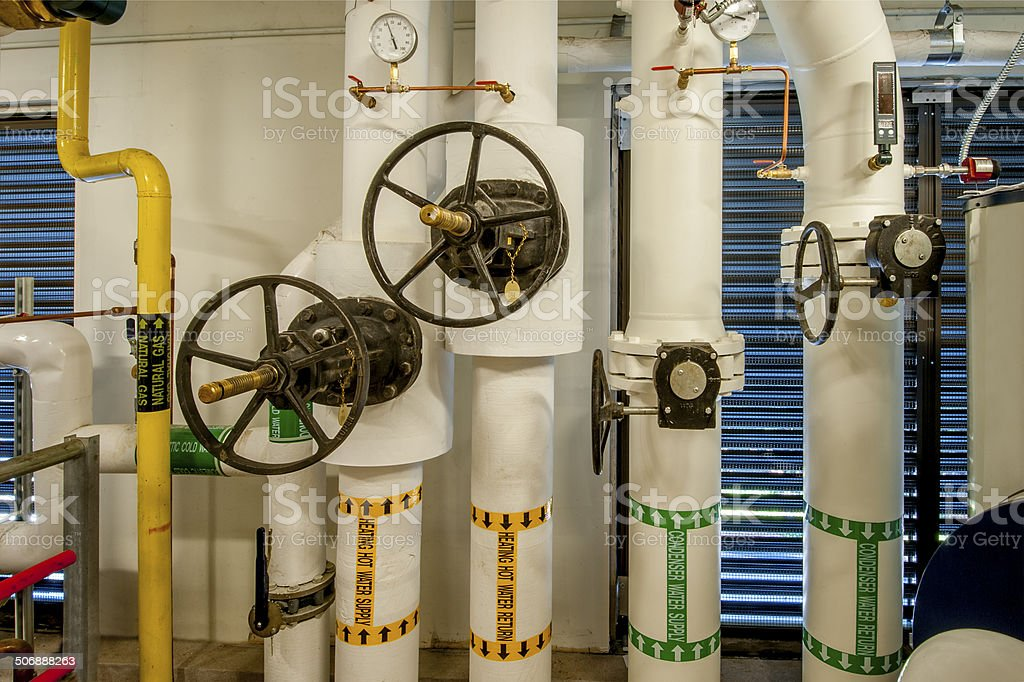Control Valves for HVAC royalty-free stock photo