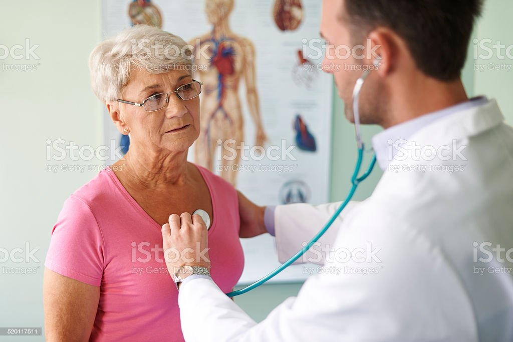 Control visit in the doctor stock photo
